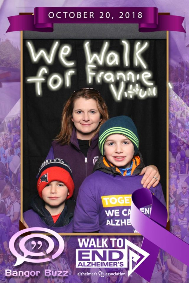 Maine Magic Mirror Photo booth event photo. Alzheimers Walk 10-20-2018